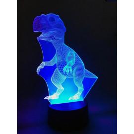 Ночник светодиодный голограмма CADENA Динозавр, 7 цветов, 3DDino