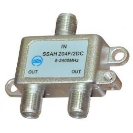 Делитель SSAH204 (1*2 5-2400 Мгц, проход питания)