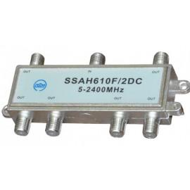 Делитель SSAH610 (1*6 5-2400 Мгц, проход питания)